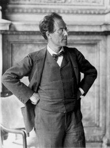 Gustav Mahler in the foyer of the Vienna State Opera, 1907