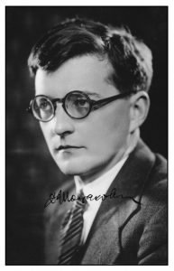A signed photograph of Shostakovich