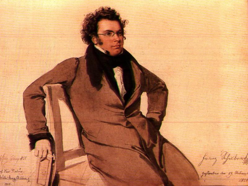 28 year-old Schubert in 1825