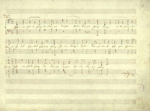 Haydn's score: Gott erhalte Franz den Kaiser