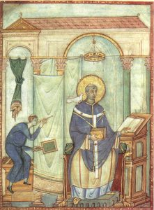 Pope Gregory I, Deacon Peter and the Bird/Holy Spirit, ca. 983