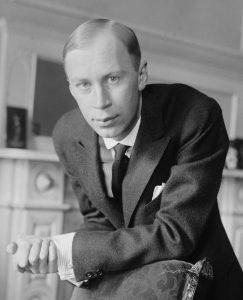 Sergei Prokofiev in New York in 1918