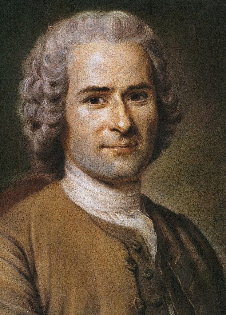 Pastel of Jean-Jacques Rousseau