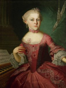 Nannerl Mozart in 1763, at age 12, by Pietro Antonio Lorenzoni