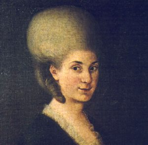 Nannerl Mozart in 1785, at age 34