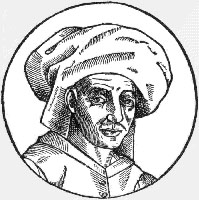 Woodcut of Josquin des Prez made in 1611