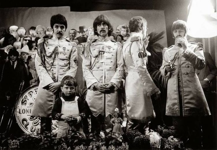 Beatles during the Sgt. Pepper's cover shoot