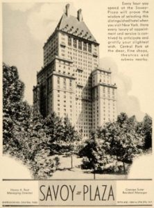 The Savoy Plaza Hotel in 1937