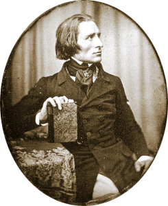 First known photo of Liszt, taken in 1843 when he was 32 years old.