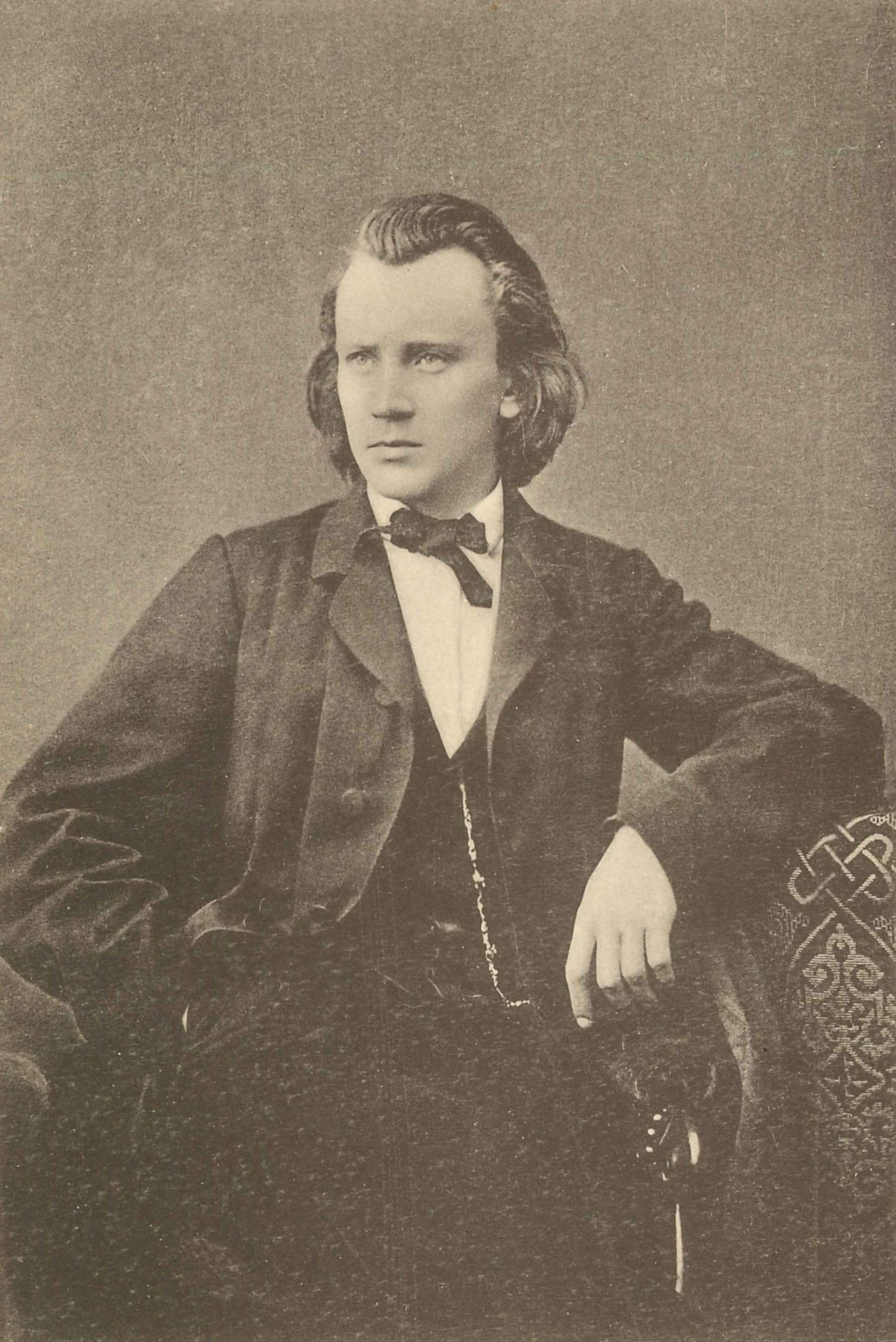 Johannes Brahms in 1865, age 32