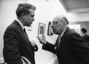 Elliott Carter with Igor Stravinsky, 1966