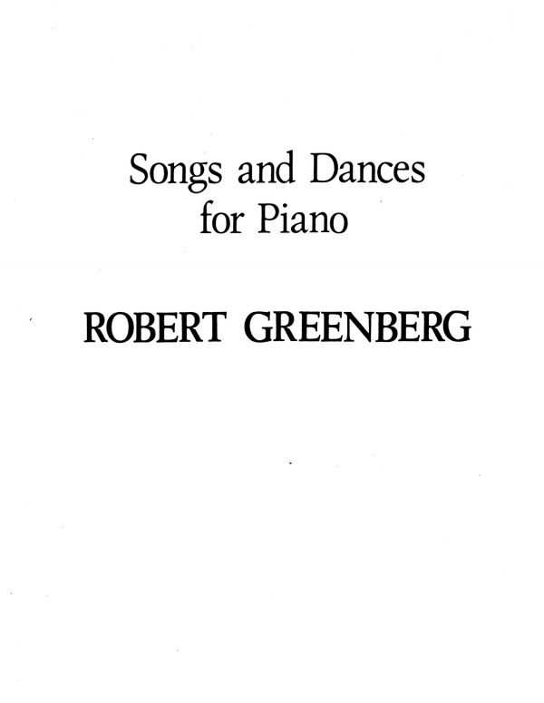 Songs and Dances for Piano