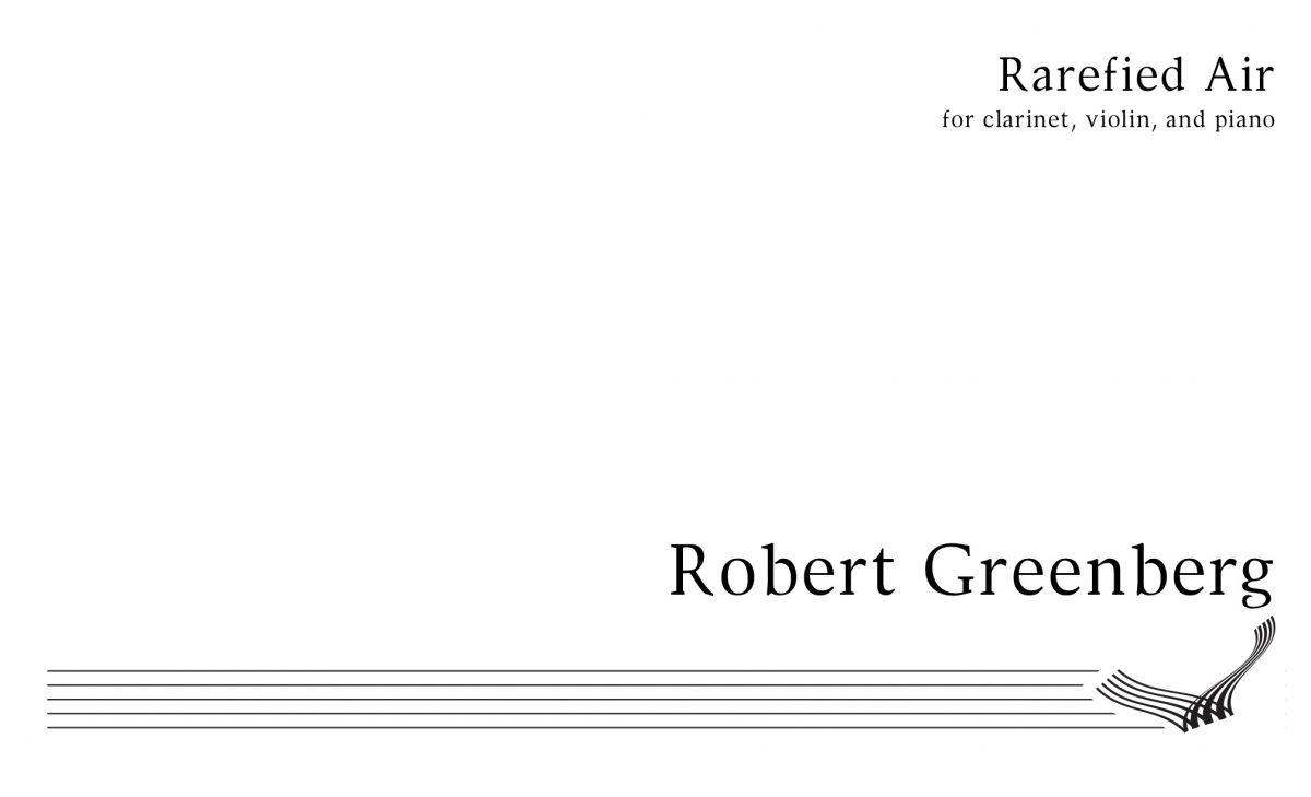 """Rarefied Air"" Score Cover"