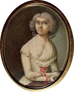 An unauthenticated miniature of Anna Maria Haydn attributed to Ludwig Guttenbrunn
