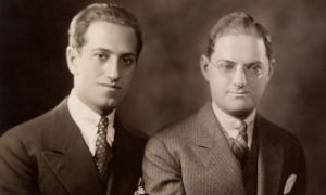 Cropped photo of George and Ira Gershwin