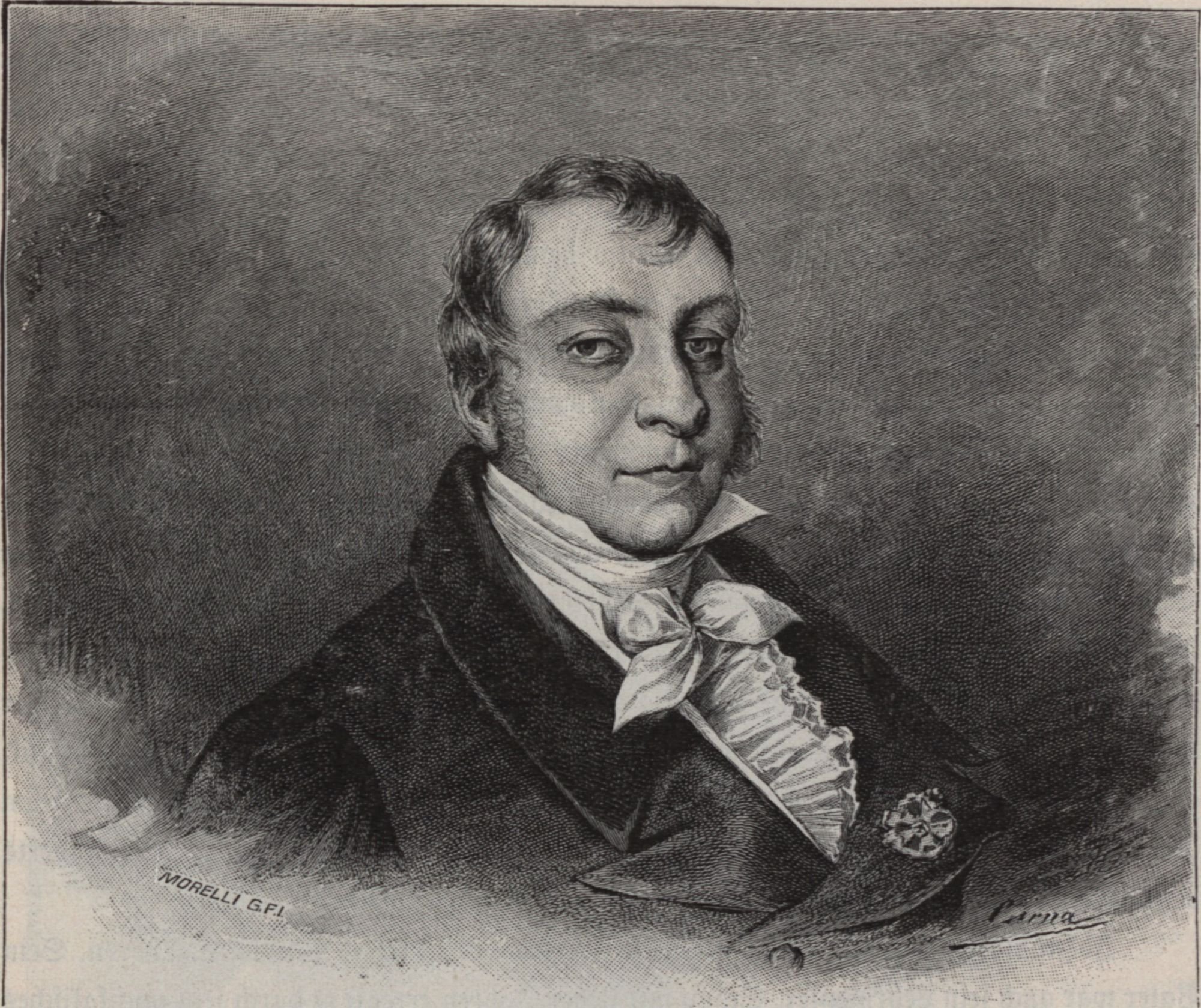 An idealized portrait of Johann Nepomuk Hummel in his later years