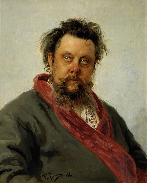 Mussorgsky by Ilya Repin, completed just days before Mussorgsky's death from alcoholism