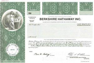 Berkshire-Hathaway stock certificate