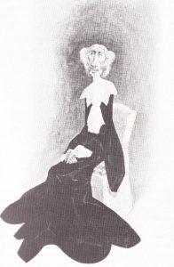 Cosima Wagner, 1905 caricature