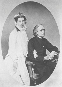Liszt and Cosima in 1860, three years after her marriage to Hans von Bülow