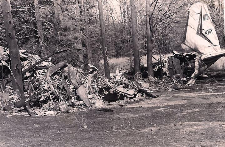 Rick Nelson's Douglas DC-3C airplane (after the wreck)