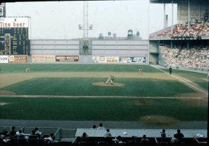 Inside Connie Mack Stadium on June 5, 1960
