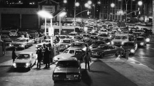 Gas lines in Brooklyn New York, January 1974