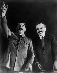 Joseph Stalin and Vyacheslav Molotov in 1935