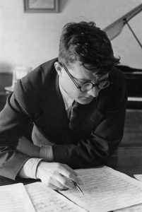 "The presumably ""rehabilitated"" Shostakovich in 1938, outwardly intact but inwardly much the worse for wear"