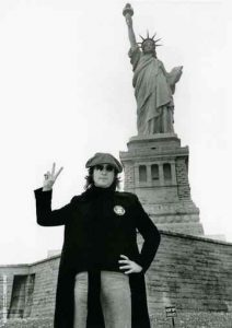 John Lennon celebrates his Green Card