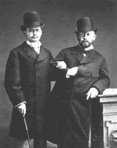 Tchaikovsky (right) and violinist Joseph Kotek (left)