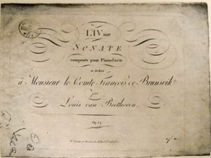 Cover page of the first edition of Beethoven's Piano Sonata in F Minor, Op. 57