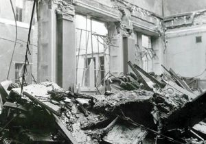 Bomb damage to the National Gallery