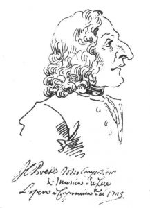 Caricature of Antonio Vivaldi by Pier Leone Ghezzi in 1723
