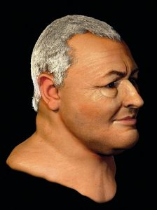 Forensic reconstruction of Bach's head based on a laser scan of his skull