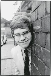 Elton Hercules John (born 1947) in 1968