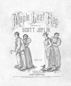 Scott Joplin's Maple Leaf Rag, 1st edition, published in 1899 in Sedalia, Missouri