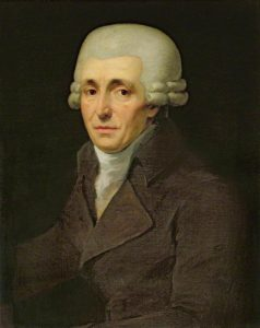 A rather flattering portrait Joseph Haydn (1732-1809) by Johann Carl Rößler, 1799