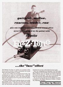 Maestro Fuzz-Tone advertisement, 1962