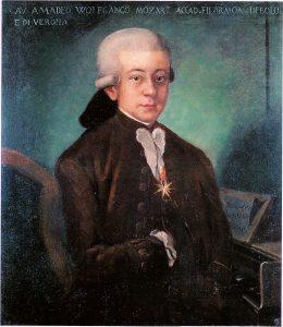 Portrait of Mozart in 1777