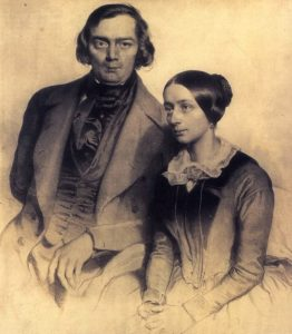 Robert and Clara Schumann in 1847
