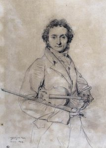 Portrait of Niccolò Paganini by Jean-Auguste-Dominique Ingres
