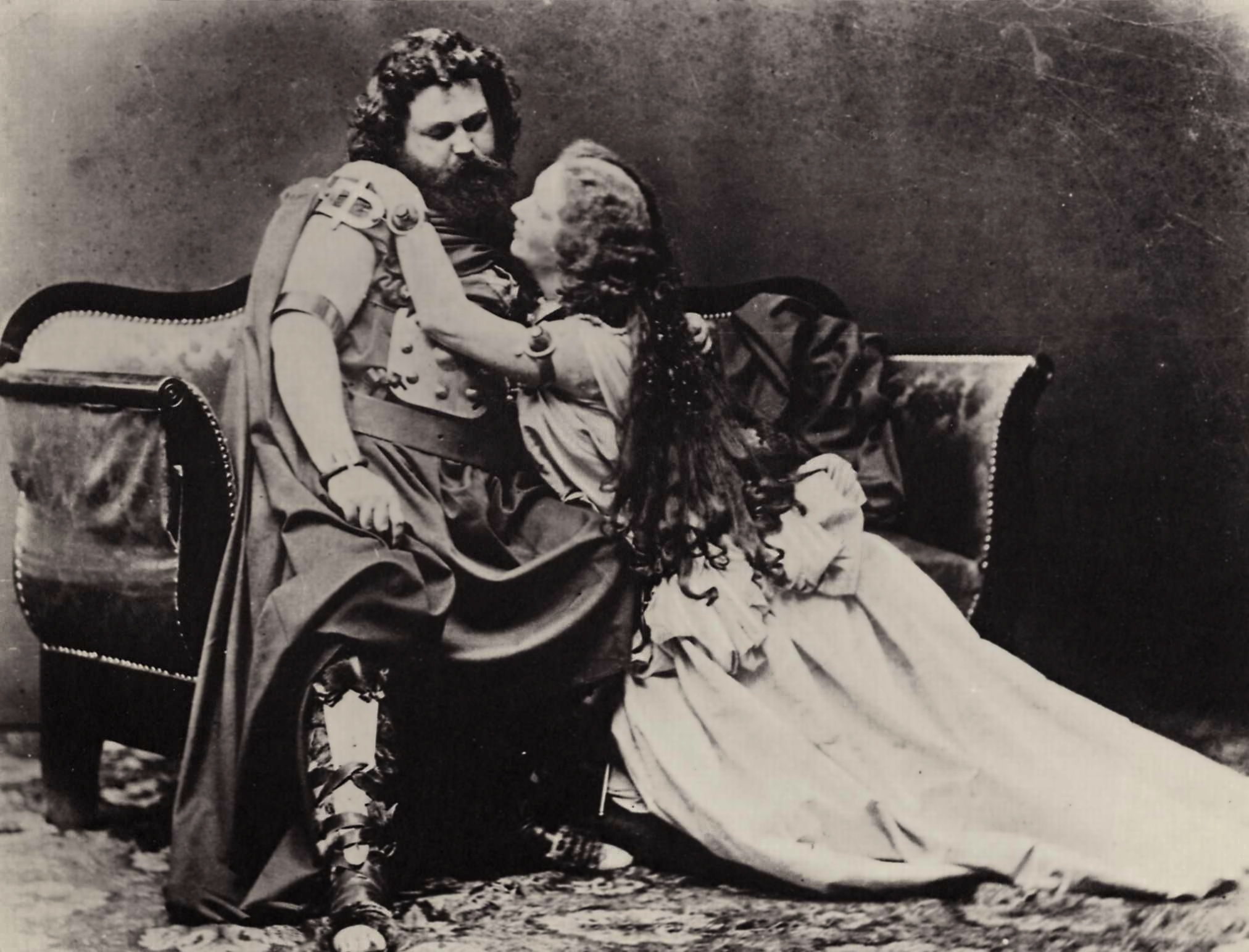 Ludwig and Malvina Schnorr von Carolsfeld as Tristan and Isolde at the first performance of Tristan und Isolde on June 10, 1865