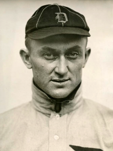 Tyrus Raymond Cobb, a.k.a. The Georgia Peach (1886-1961) in 1913