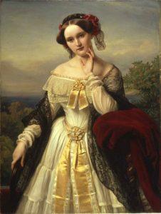 Mathilde von Wesendonck (1828–1802) in 1850 by Karl Ferdinand Sohn