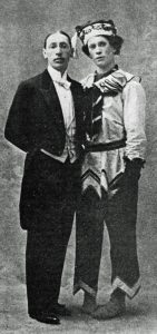 Igor Stravinsky and Vaslav Nijinskyin 1911; Nijinsky is costumed as Petrushka