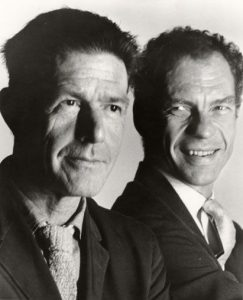 John Cage and Merce Cunningham circa 1955