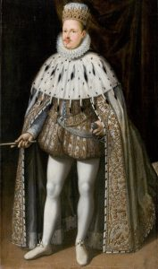 Duke Vincenzo I Gonzaga in his coronation robes in 1587