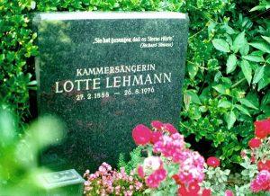 Lotte Lehmann's tombstone