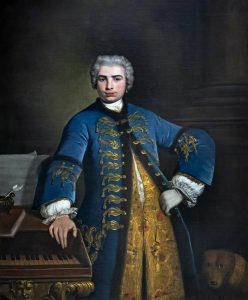 """Carlo Broschi, """"Farinelli"""" in 1734 by Bartolomeo Nazari"""